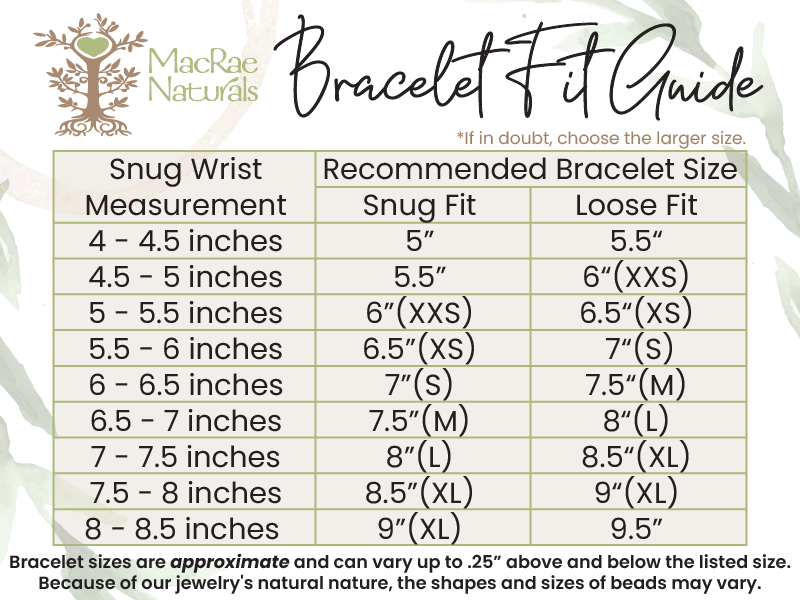 Bracelet Fit Guide for MacRae Naturals