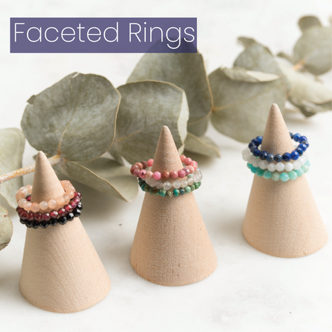 Faceted Ring Stacks by MacRae Naturals