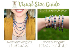 MacRae Naturals visual size guide