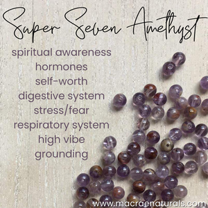Super Seven Amethyst Bracelet single