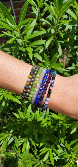 Faceted Crystal Singles Bracelets