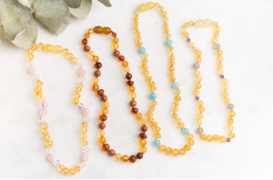Mystery Baltic Amber Teething & Pain Necklace
