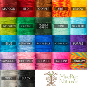 String colors by MacRae Naturals