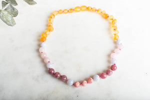 Baltic Amber Teething & Pain Necklace in 'Harper' - Down Syndrome Support
