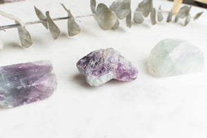 Raw Rainbow Fluorite- Awareness & Intuition