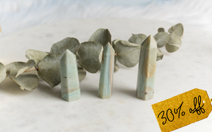 Caribbean Calcite Point- Amplifies & Cleanses Energy