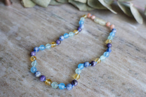Autism support crystal necklace by MacRae Naturals