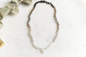Buffy - Faceted Black Ombre Necklace - LIMITED EDITION
