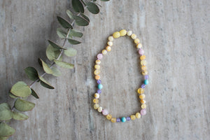 Baltic Amber Teething & Pain Necklace in 'Chloe'