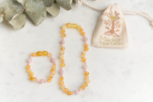 Baltic Amber Teething & Pain Jewelry in 'Elise'