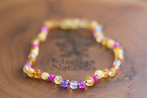 Baltic Amber Teething Necklace in 'Emma'