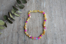 Baltic Amber Teething and Pain Necklace in 'Emma'
