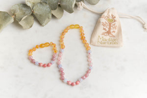 Baltic Amber Teething & Pain Jewelry in 'Harper' - Down Syndrome Support