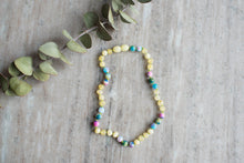 Baltic Amber Teething & Pain Necklace in 'Iris'