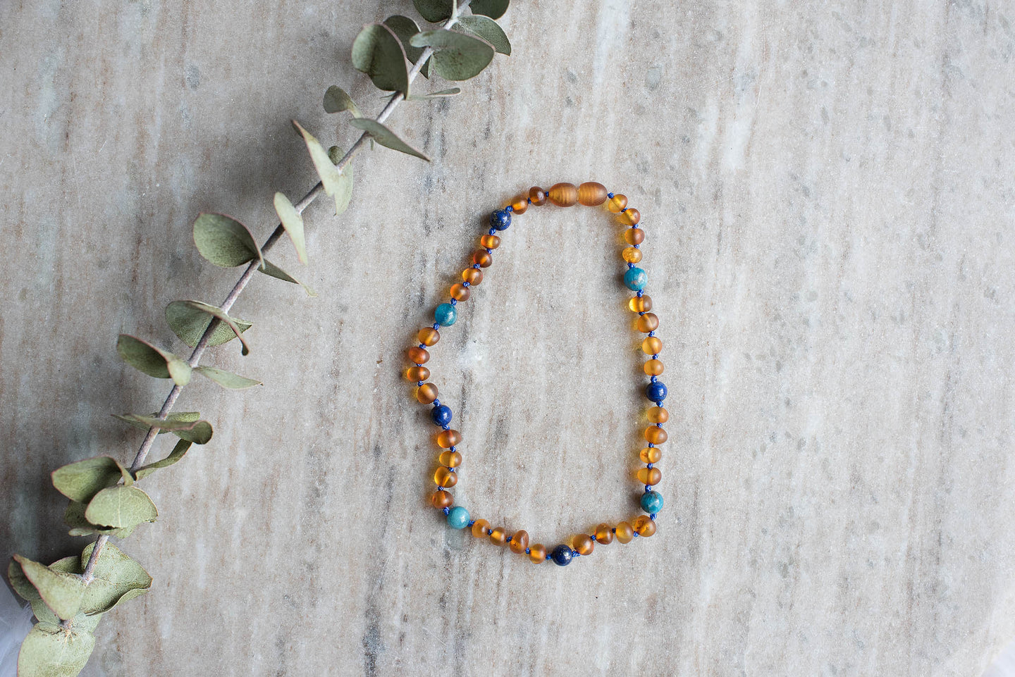 Baltic Amber Teething and Pain Necklace in 'Maverick'