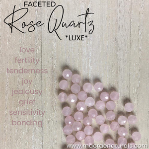 Faceted Light Rose Quartz Necklace