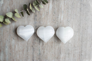 Large Selenite Hearts