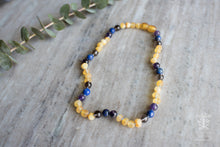 Sleep & Teething Support Baltic Amber and Crystal Necklace
