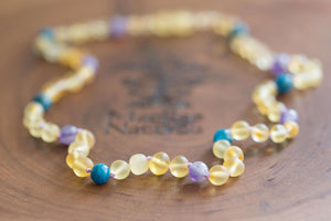 Custom Baltic Amber Teething Necklaces and Pain Relieving Jewelry- Design Your Own!