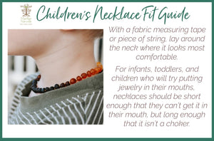 Baltic Amber Teething & Pain Necklace in 'Chase'