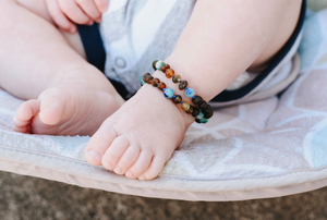 Baltic Amber Teething & Pain Jewelry in 'Caden'