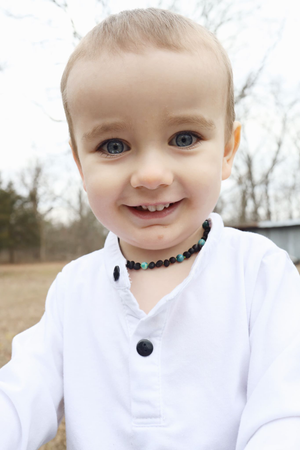 Baltic Amber Teething & Pain Jewelry in 'Jake'