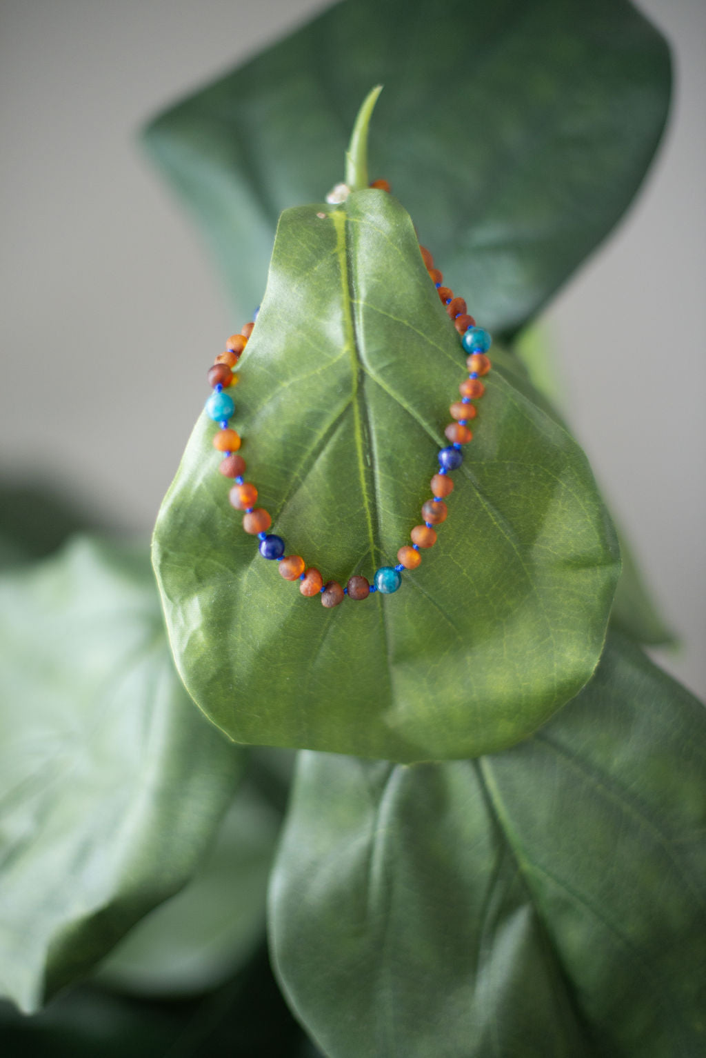 Baltic Amber Teething Necklace in 'Maverick'