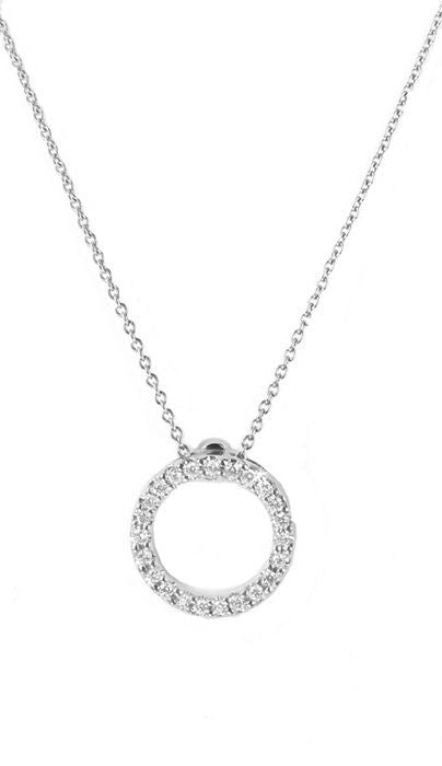Circle Pendant with Diamonds