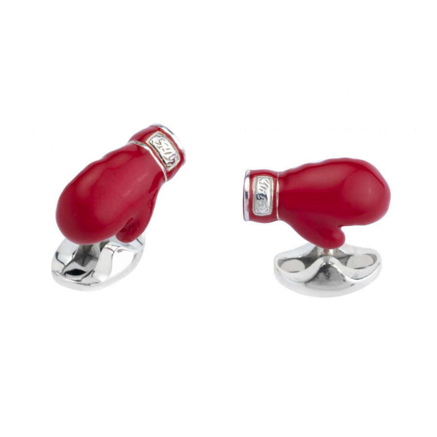 Sterling Silver Boxing Glove Cufflinks