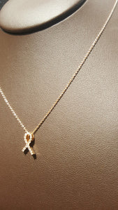 Roberto Coin Hope Ribbon Pendant with Diamonds