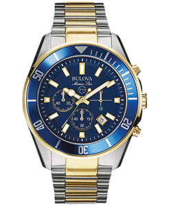 Men's Chronograph Marine Star Two-Tone Stainless Steel Bracelet Watch