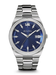 Bulova Men's Stainless Steel Bracelet Watch 43mm