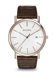 Men's Rose Gold White Dial