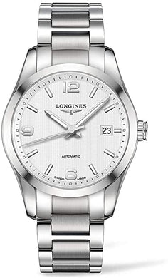 Longines Conquest Silver Dial Stainless Steel Watch L27854766