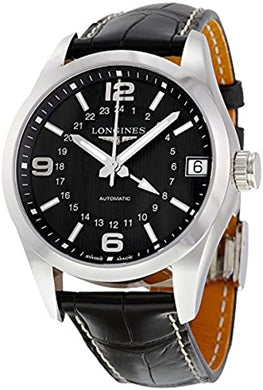 Longines Conquest Classic Automatic Black Dial Black Alligator Men's Watch L27994563