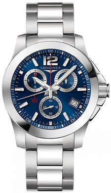 Longines L37004966 Conquest Mens Watch - Blue Dial