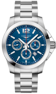 L38014966 Longines Conquest Automatic Chrono 44mm Mens Watch