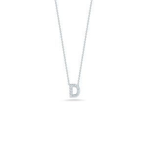 Love Letter D Pendant with Diamonds