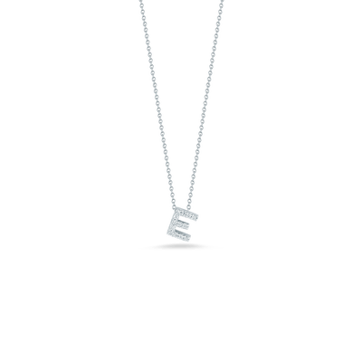 Love Letter E Pendant with Diamonds