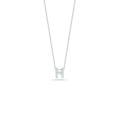 Love Letter H Pendant with Diamonds