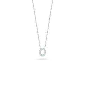 Love Letter O Pendant with Diamonds