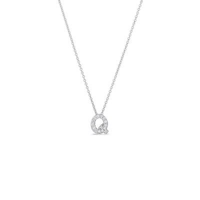 Love Letter Q Pendant with Diamonds