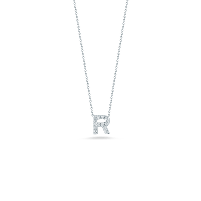 Love Letter R Pendant with Diamonds