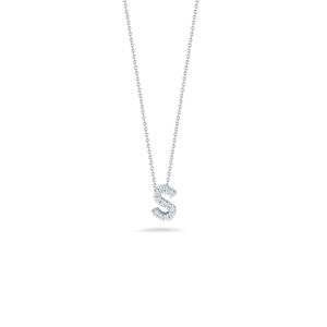 Love Letter S Pendant with Diamonds