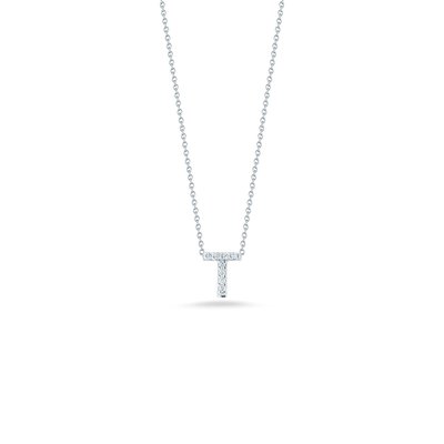 Love Letter T Pendant with Diamonds