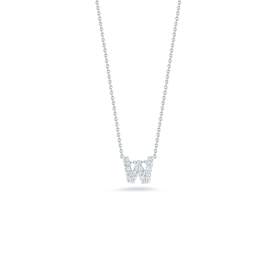 Love Letter W Pendant with Diamonds