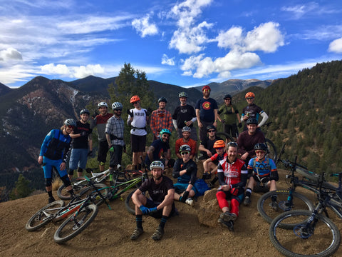 Mount Buckhorn colorado springs ride atire trail party mountain biking lifestyle hemp apparel