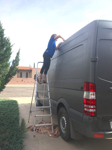 Ride Atire sprinter van build out ladder treatment
