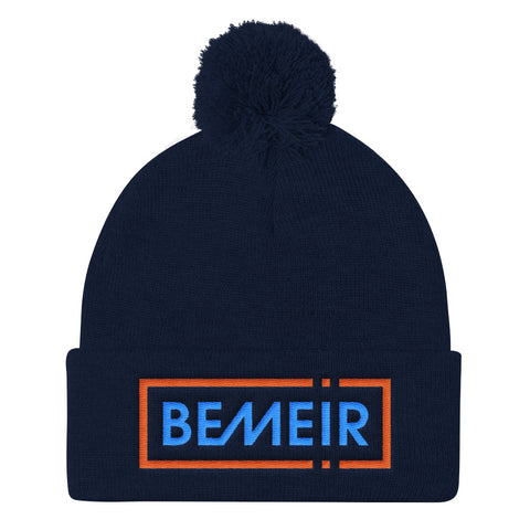 Bemeir Electric Blue NYC Classics Pom Pom Knit Cap