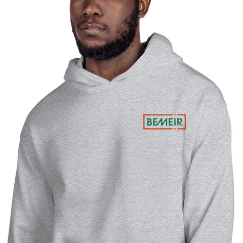 Sport Grey Hoodie w/ Orange Green Bemeir Logo